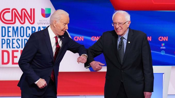 Biden and Bernie