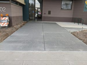 A sidewalk made with sand from glass.