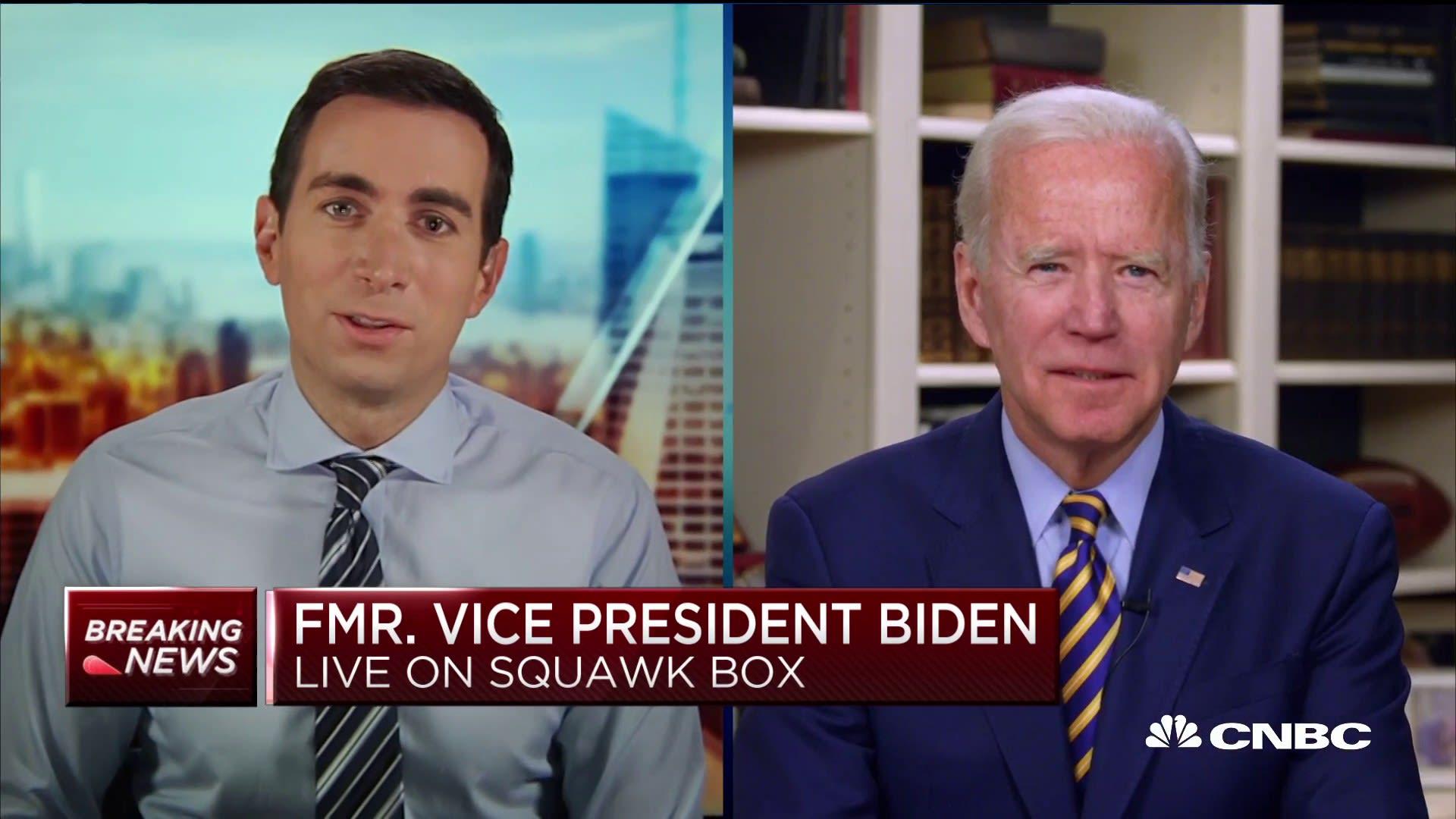 Watch: CNBC's full interview with Joe Biden