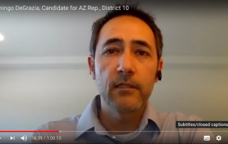 Domingo DeGrazia, Candidate for AZ Rep., District 10 May 18