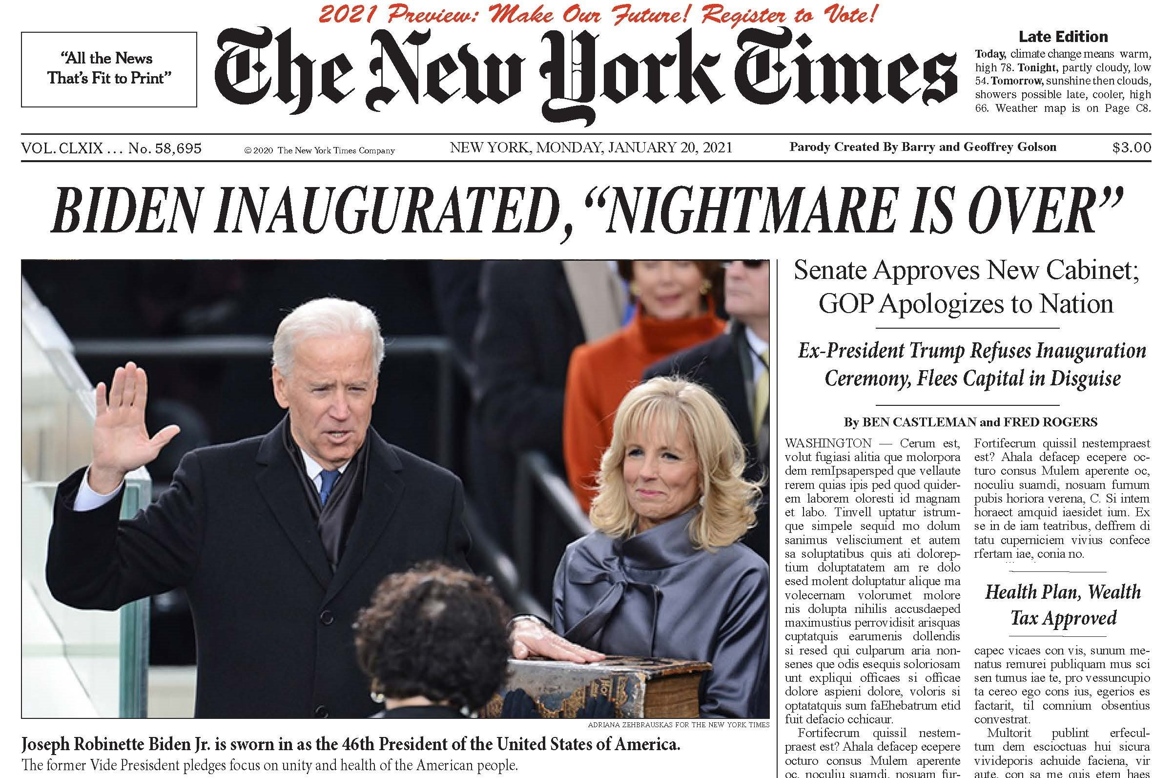 The NYT Headline All Democrats Want to See