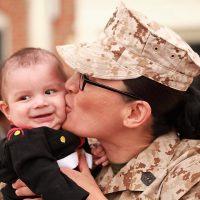 Anna Mendoza and her son